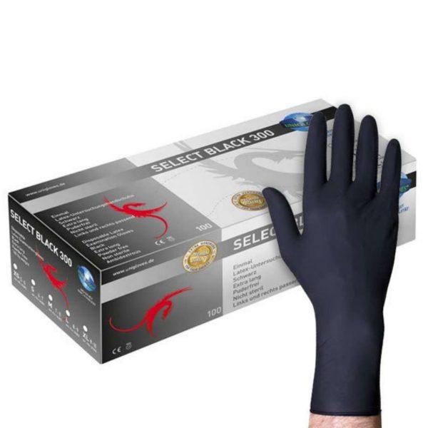 Crne nitrilne rukavice